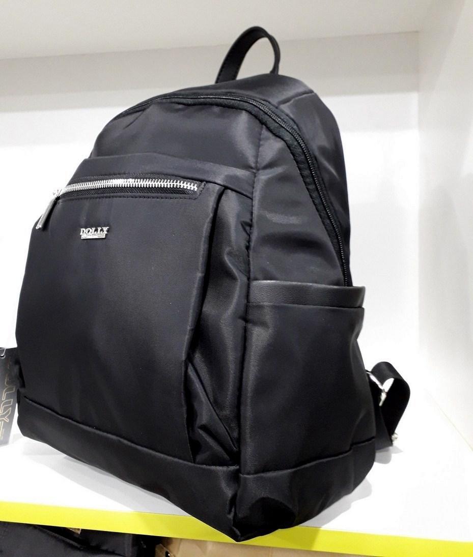 d68603a5023a Рюкзак городской черный маленький Dolly 385 один отдел и два кармана 25 х  35 х 15см