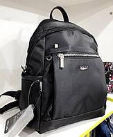 Рюкзак женский городской черный маленький текстильный Dolly 385 один отдел и два кармана  25 х 35 х 15см
