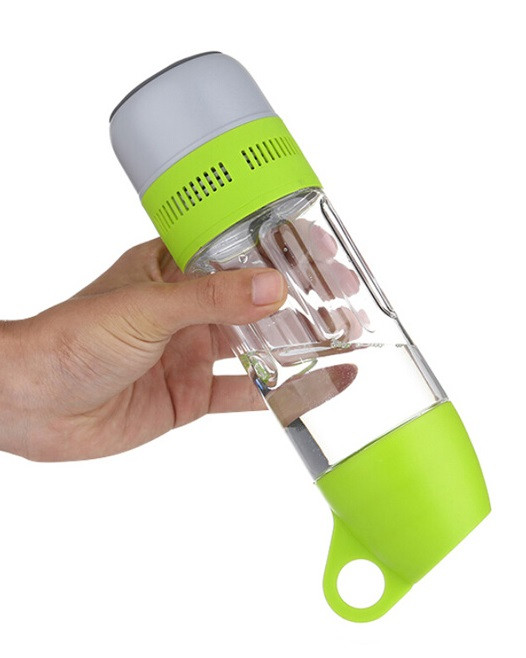 Бутилка для води SUNROZ Water Bottle With Bluetooth Speaker з безпровідною колонкою400 мл Зелений (SUN3690)