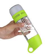 Бутилка для води SUNROZ Water Bottle With Bluetooth Speaker з безпровідною колонкою400 мл Зелений (SUN3690), фото 1