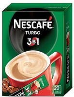 Кофе растворимый Nescafe 3 in 1 Turbo Нескафе 3 в 1 Турбо 13 g x 20 шт х 24 уп