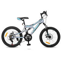 Велосипед спортивный 20 Дюймов G20DAMPER S20.5 черно/сер/бирюза