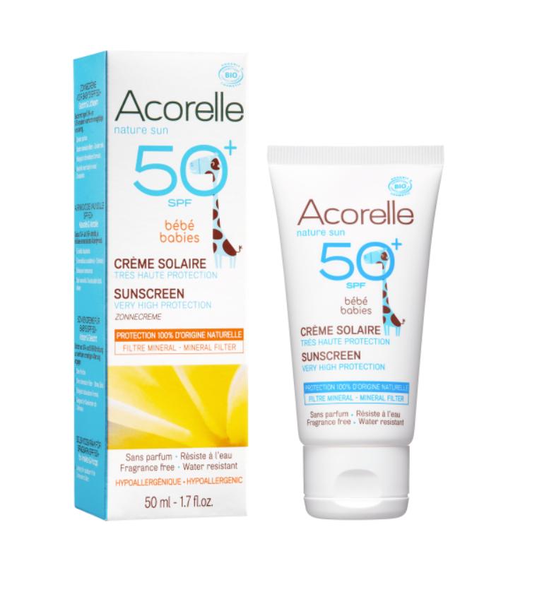 Крем солнцезащитный детский SPF 50 Acorelle,50 мл
