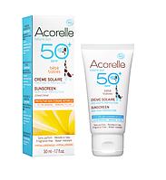 Органический крем солнцезащитный детский SPF 50 Acorelle,50 мл