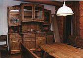 Кухни с массива сосны в деревенском стиле