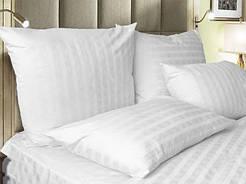 Постельное белье страйп-сатин 2х2 для гостиниц полуторный 150х220