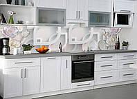Кухонный фартук Разнообразие (наклейка на стеновую панель кухни, цветы, абстракция, різноманіття)