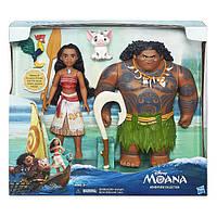 Дисней набор из двух кукол Моана Ваяна и Мауи полубог Moana Adventure Collection Maui