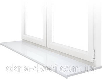 Подоконник Данке Белый глянцевый Lucido Bianco глубиной 250 мм