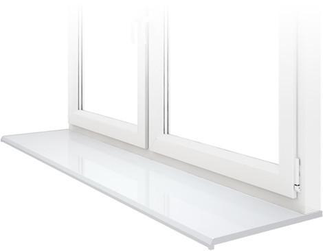 Підвіконня Данке Білий глянцевий Lucido Bianco глибиною 700 мм