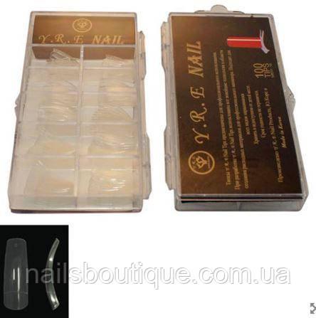 Прозрачные типсы в пластиковой упаковке 100 шт