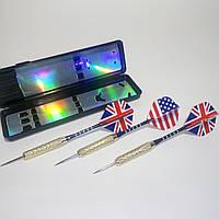 Набор из 3 дротиков для дартса (цельнометаллические, вес 1 шт - 18 грамм)