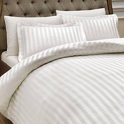 Постельное белье оптом отельное страйп-сатин полоса 2х2 двухспальный