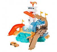 Трек Хот Вилс  Hot Wheels Охота на акулу серии Измени цвет Color Shifters Sharkport Showdown