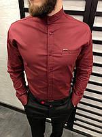 Рубашка мужская красная 6 цветов ЛЮКС КАЧЕСТВО весна лето рубашка белая черная