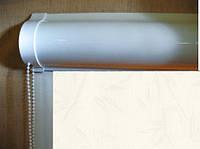 Ролеты тканевые (рулонные шторы) Bamboo White Besta uni закрытый короб