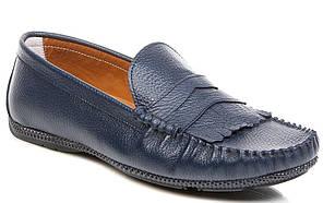 Мужские мокасины темно-синего цвета 42 р.  Deristudio - фирменная Турция