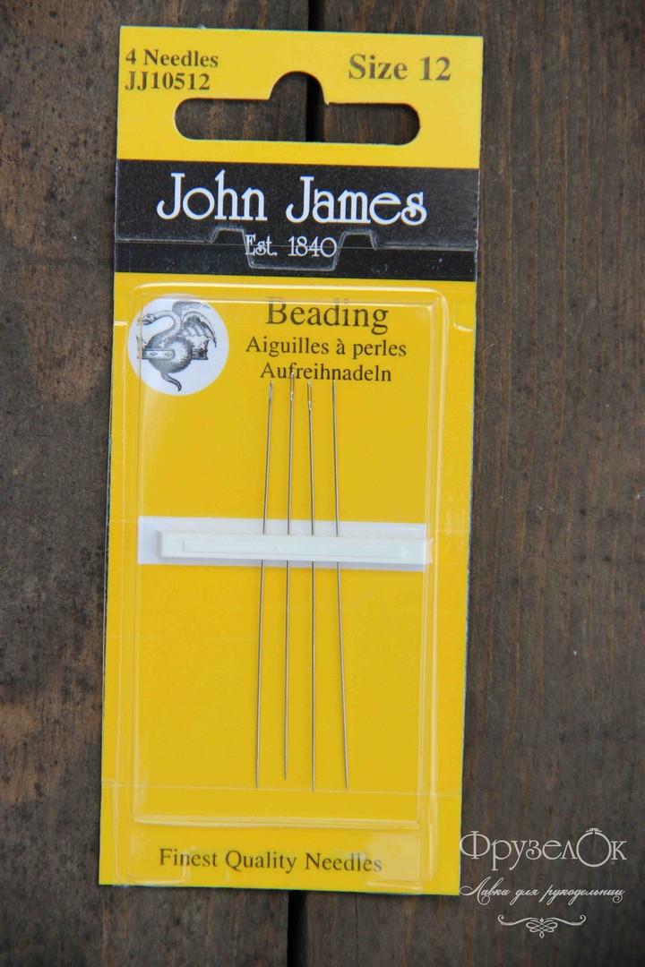 Голки для вишивки бісером John James #12