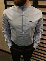 Рубашка мужская серая 6 цветов ЛЮКС КАЧЕСТВО весна лето рубашка белая черная