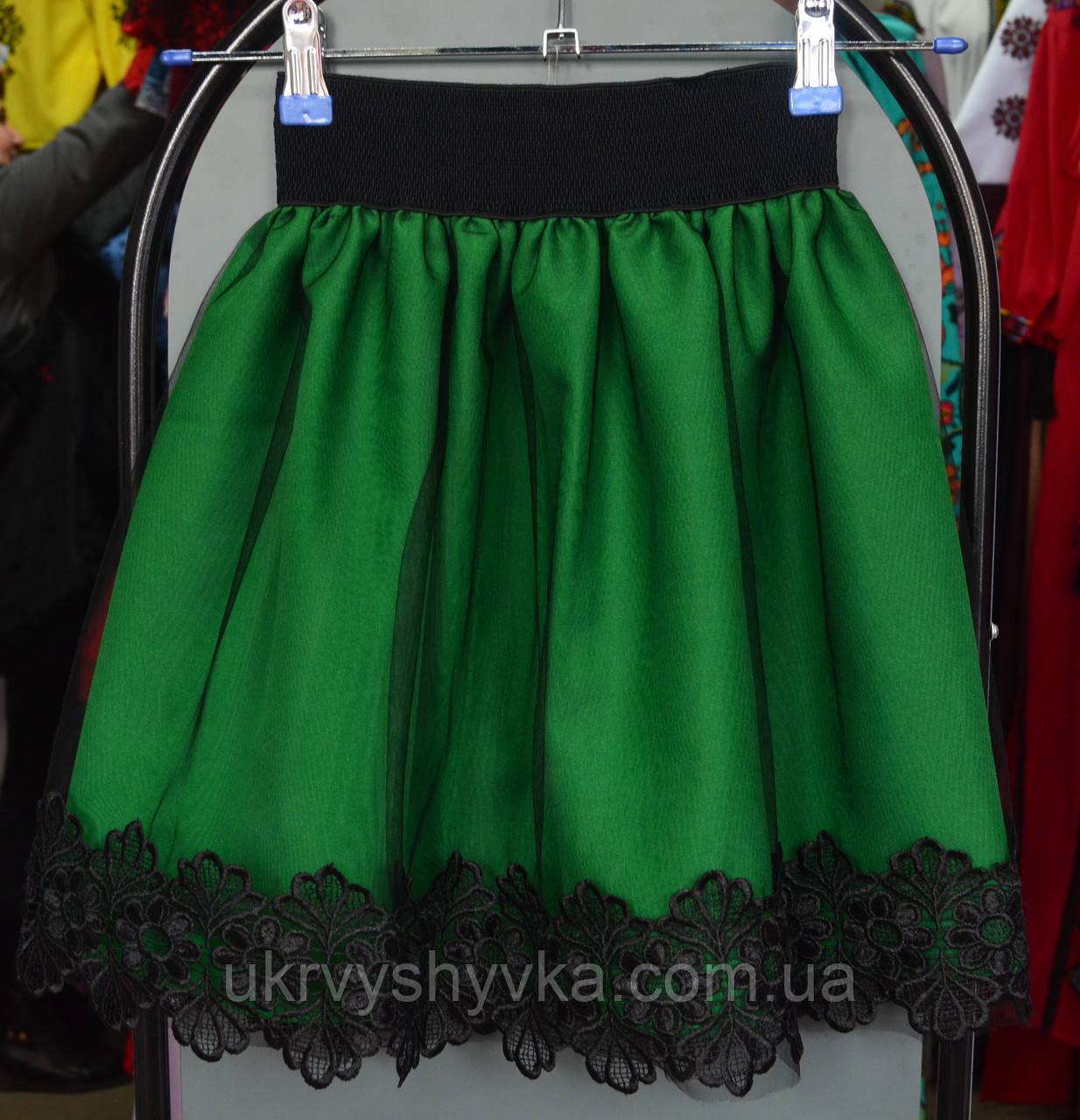 """Дитяча спідниця """"Міра"""" зелена"""