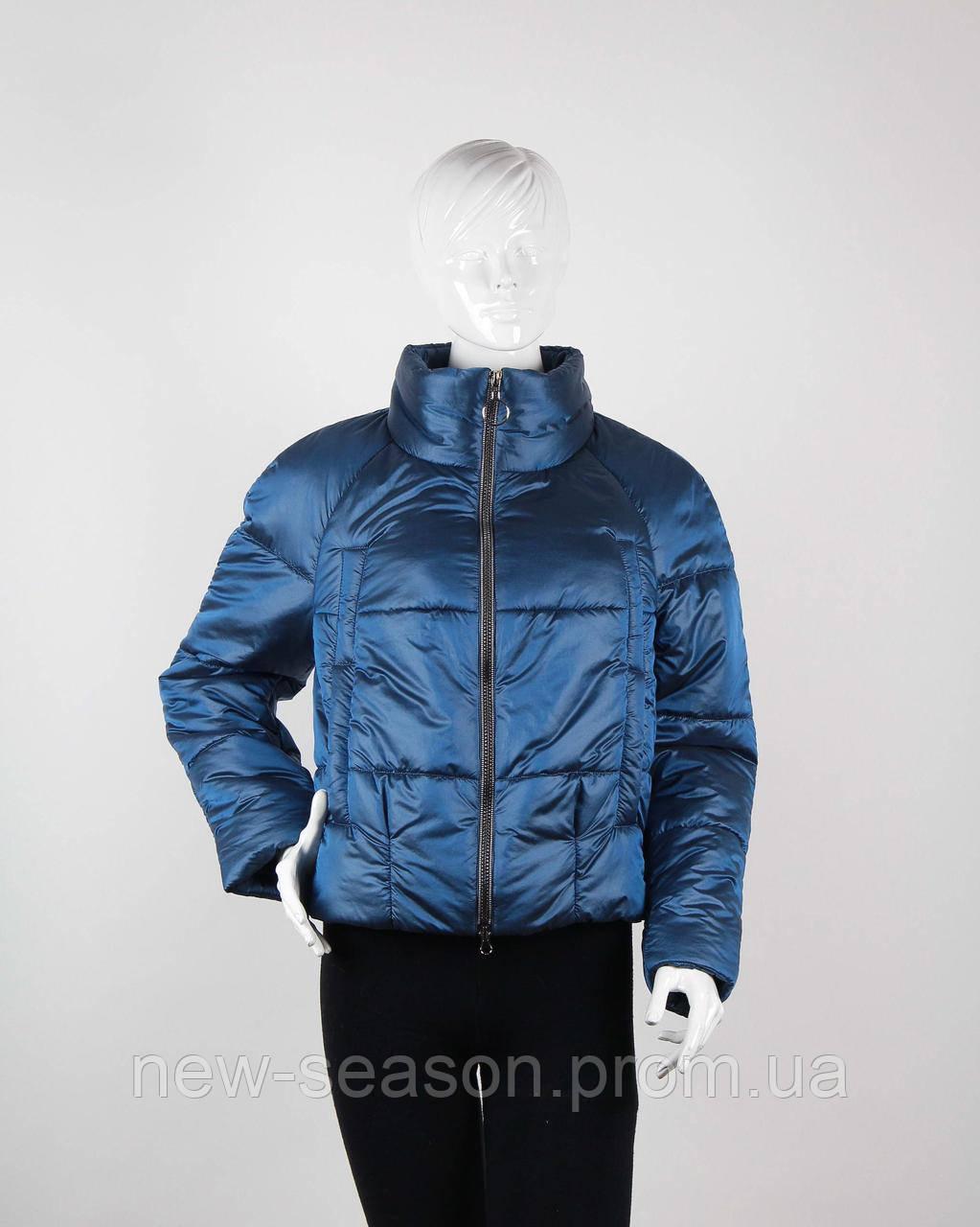 Куртка демисезонная бомбер Goods Fancy 2706 marine blue