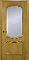 """Межкомнатная дверь ОМИС """"КАРМЕН"""" ПГ, дуб натуральный, шпон, стекло сатин"""