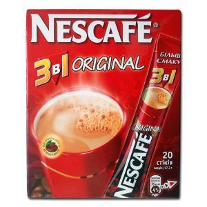 Кофе растворимый Nescafe 3 in 1 Original Нескафе 3 в 1 Оригинал 13 g x 20 шт х 24 уп