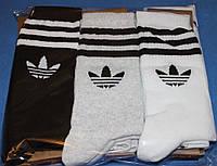 Носки мужские в стиле Adidas 42-45 размер,черный+серый+белый. 12 пар.