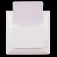 Карточный выключатель стандартный Visage, Gunsan (белый и крем)