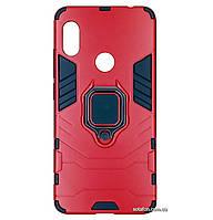 Противоударный чехол Iron Man Ring для Xiaomi Redmi Note 6 Pro Dante Red