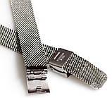 Браслет сетка на часы Миланское Плетение,14 мм. Серебро , фото 3