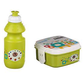 Ланч бокс детский STENSON с поилкой (R82654) Зеленый