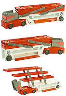 Трейлер грузовик автовоз хот вилс на 50 машинок оранжевый Hot Wheels Mega Hauler, Mega Hauler Truck-Orange