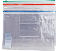 Папка-конверт А5, пласт молния, ассорти BM3947-99