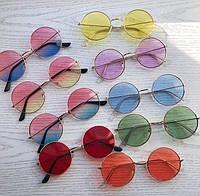 Солнцезащитные очки круглые розовые
