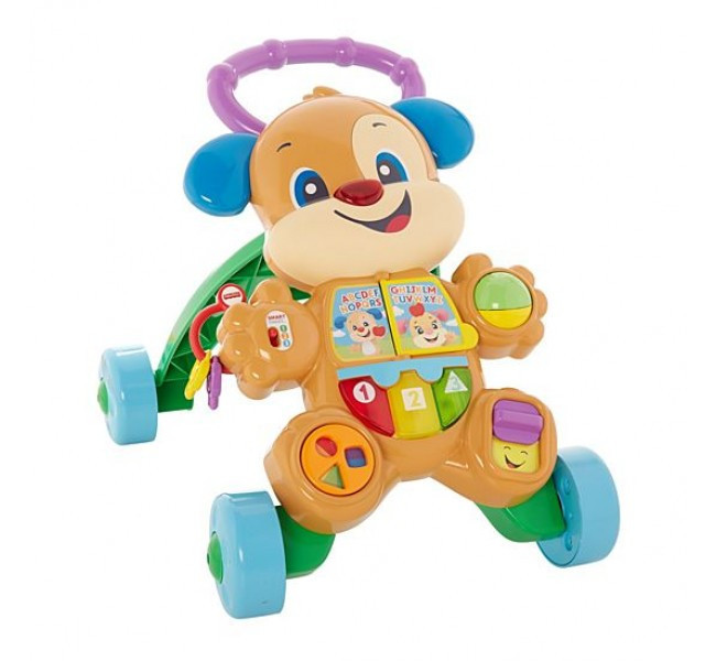 Музывальные ходунки толкатель Fisher-Price щенок  Fisher-Price Laugh & Learn Smart Stages Learn with Puppy Walker
