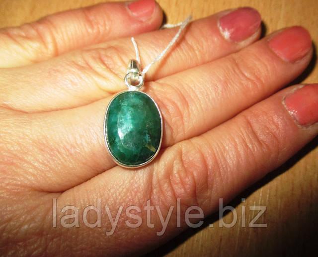 купить серебряное кольцо перстень с натуральными изумрудами леди стиль