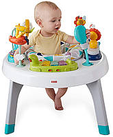 Fisher-Price напольные прыгунки столик 2в1 джунгли Sit-to-Stand Activity Center Spin N Play Safari
