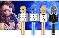 Беспроводной караоке микрофон с динамиком и USB