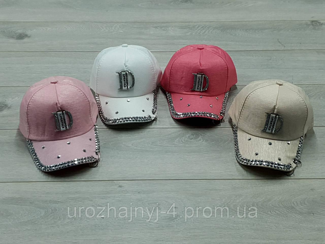 Детские коттоновые кепки р52-54.