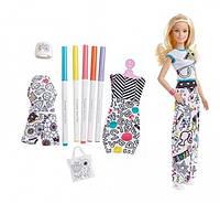 Barbie Набор Барби дизайнер Crayola Color-in Fashions Blonde