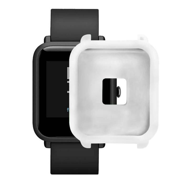 Amazfit Bip Защитный силиконовый чехол для смарт часов, White