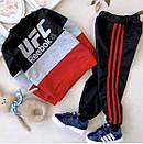 Спортивний костюм дитячий для хлопчиків в стилі Reebook двунитка, фото 3