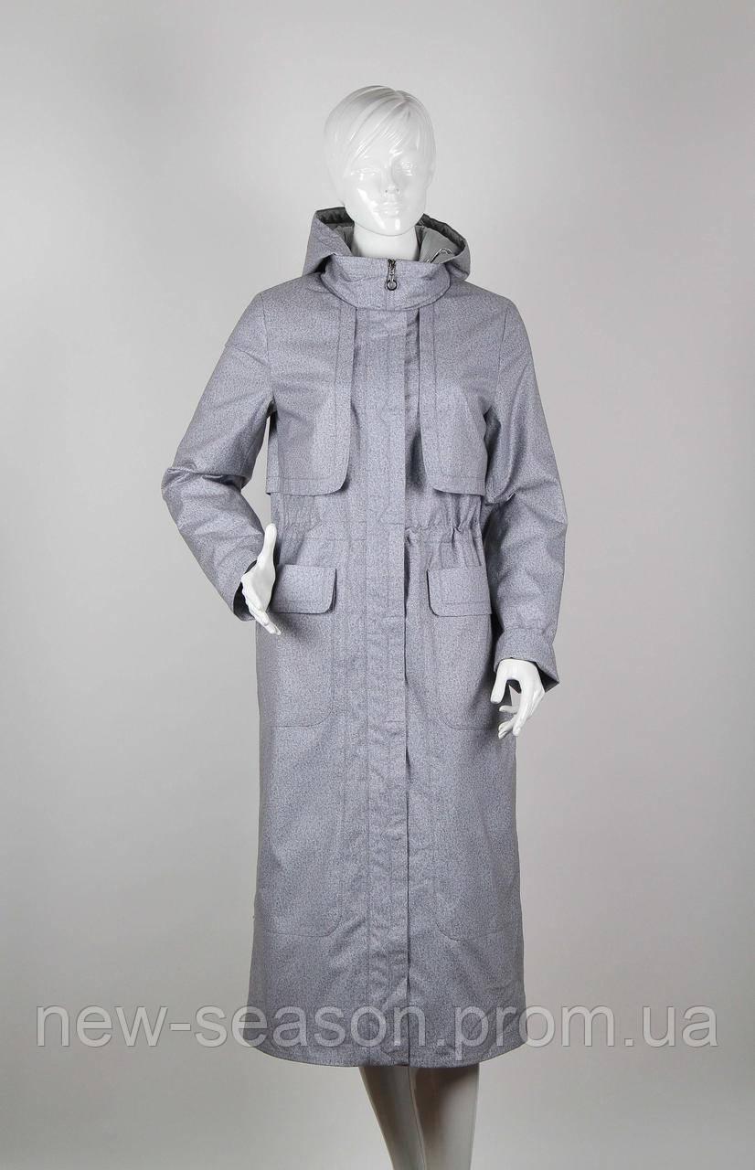 Пальто демисезонное Origa Лана светло-серый