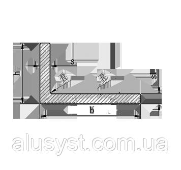 Алюминиевый уголок, Анод, 80х40х4 мм