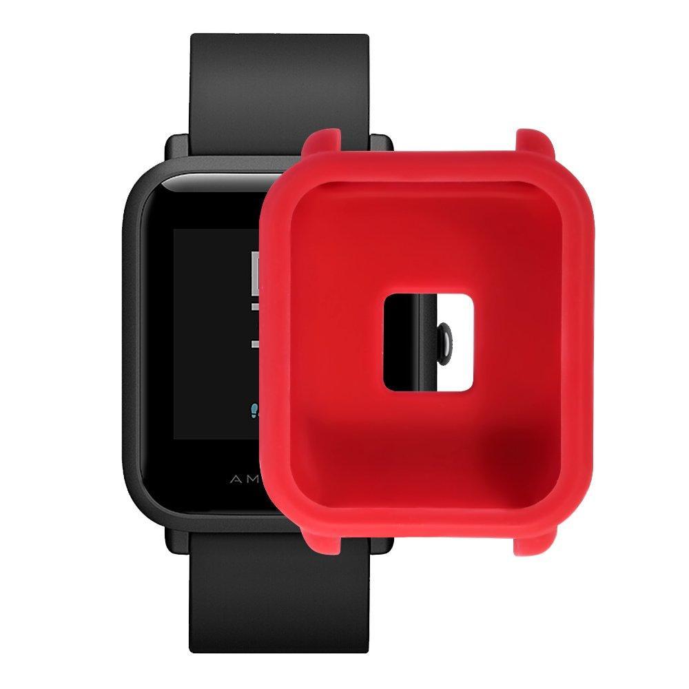 Amazfit Bip Защитный силиконовый чехол для смарт часов, Red