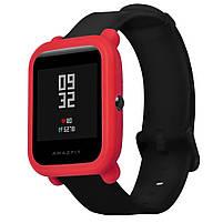 Amazfit Bip Защитный силиконовый чехол для смарт часов, Red, фото 3