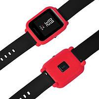 Amazfit Bip Защитный силиконовый чехол для смарт часов, Red, фото 5