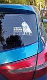Наклейка на авто / машину Сибирский хаски на борту (Siberian Husky On Board), фото 3
