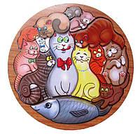 Головоломка Коты, развивающая игра пазл с тенью подложкой, 1+